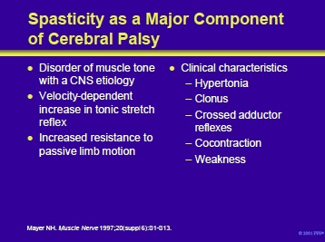 spasticity as a major component of cp