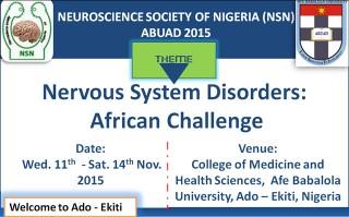 Neuroscience Society of Nigeria (NSN) ABUAD 2015