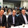 From left ot right: Dr. Rene Silva (El Salvador), Dr. Manuel Vides (El Salvador) and Dr. Angel Hernandez (USA). symposium San Miguel, El Salvador