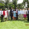 Local organizing committee with ICNA-CNS invited speakers. From left: Nicholas Adjei (Local speaker/Gastroenterology), Adwoa Boakye-Yiadom (LOC chair/Neonatology), Charles Hammond (LOC/Pediatric Neurology/Bernard D'Souza Awardee 2017), Dave Clarke (ICNA-C