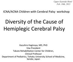 Diversity of the Cause of Hemiplegic Cerebral Palsy