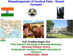 Etiopathogenesis of Cerebral Palsy - Recent Concepts