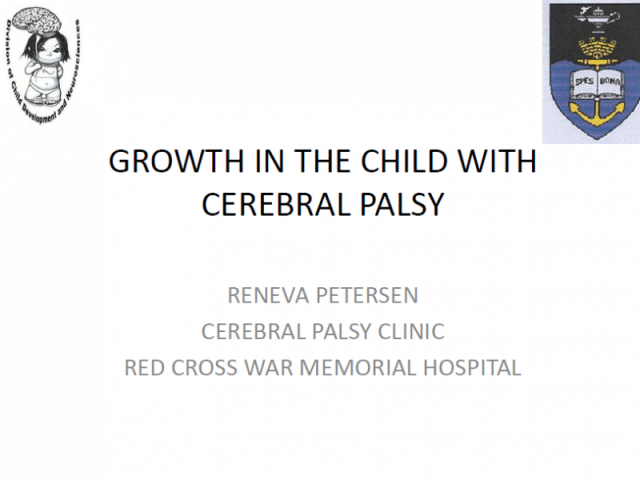 Growth in the child with Cerebral Palsy