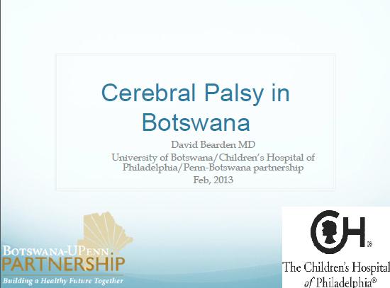 Cerebral Palsy in Botswana
